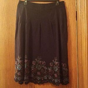 Christopher & Banks black skirt